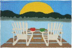 jellybean rug sunrise at the lake design