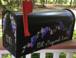 custom painted mailbox wisteria and roses