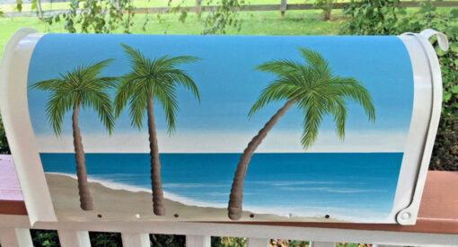 Hand Painted Mailboxes Seaside Beach Palms