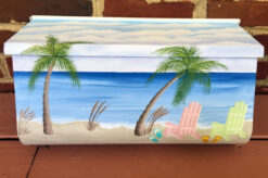 adirondack beach hand painted mailbox