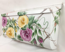 painted mailbox trellis roses