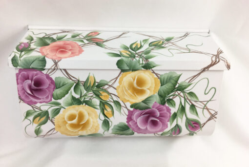 painted mailboxes trellis roses
