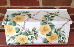 hand painted mailbox yellow rose trellis