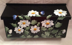 painted mailbox wall mount daisies