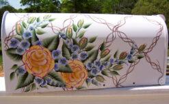 peace roses on trellis background