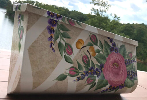 roses on wall mount mailbox