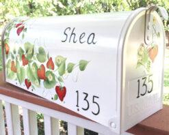 strawberries painted mailbox