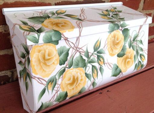 hand painted mailbox trellis background