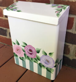 hand painted wall mount mailbox with roses