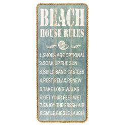 list of 8 Beach House Rules Sign