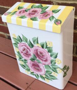 hand painted mailbox shabby roses