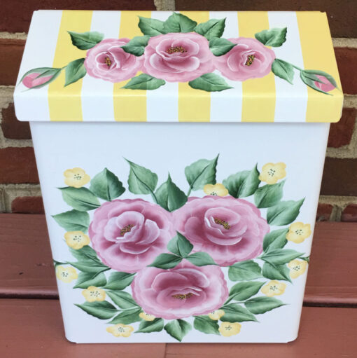 hand painted mailbox with chic roses