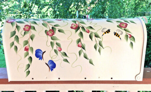 painted mailbox flowers