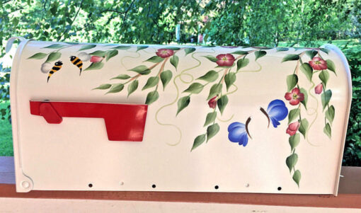 painted mailboxes flowers