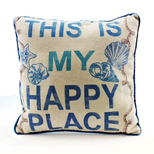 nautical beach this is my happy place pillow