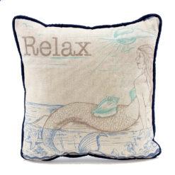 nautical mermaid relax pillow