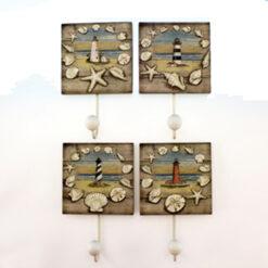 lighthouse wall hooks set of 4