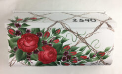 hand painted mailbox wall mount