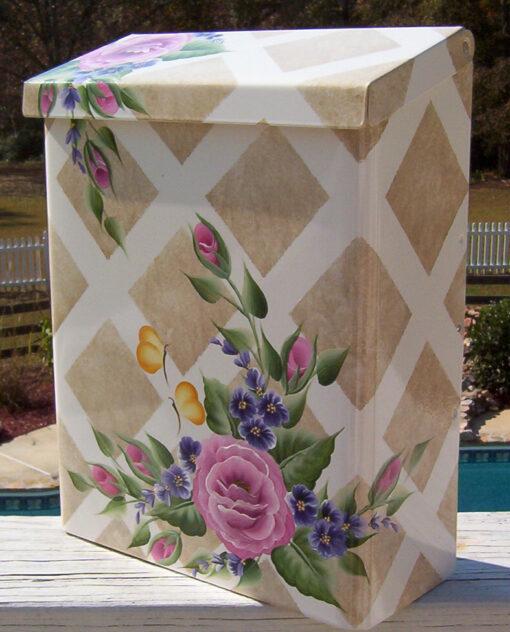 hand painted mailbox flowers butterflies