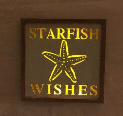 lighted starfish plaque
