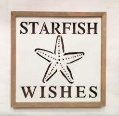 lighted starfish sign plaque