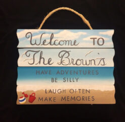 custom hand painted personalized beach welcome sign