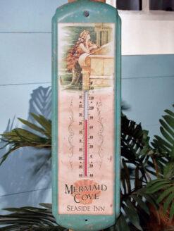beautiful teal mermaid thermometer
