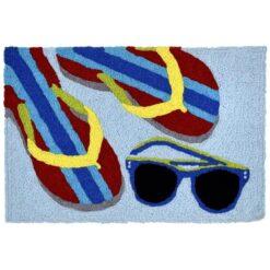 beach accents jellybean rug