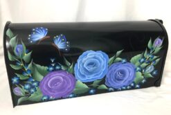 hand painted mailboxes lavender and blue tone roses